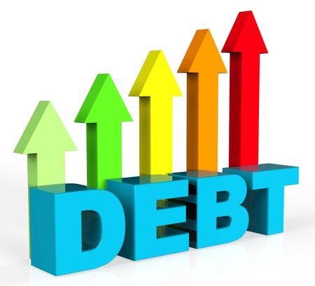 compromisos: Aumentar Deuda Representando Deudas Deber y pasivos