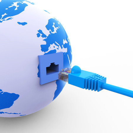 web site: Worldwide Connection Representing Web Site And Planet