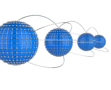interconnected: Interconectado Red Indicando Global Communications y en el mundo