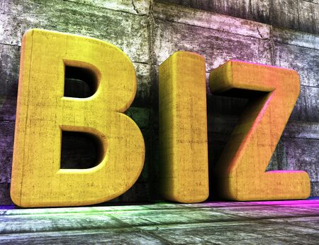 biz: Business Word Representing Commerce Corporation And Biz
