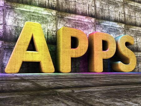 Apps Software Representing Softwares Programs And Internet