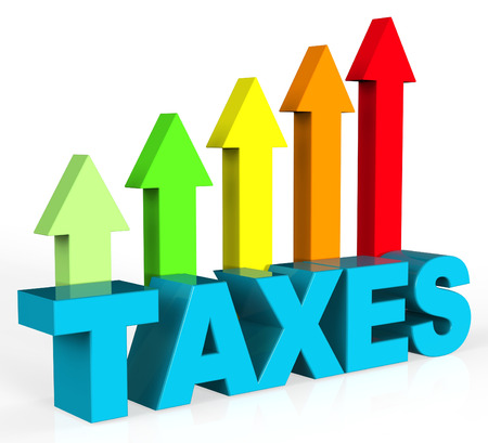 Increase Taxes Representing Raise Duty And Excise Stock Photo - 40192489