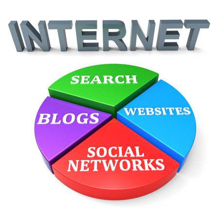 internet search: Internet Search Showing World Wide Web And Gathering Data