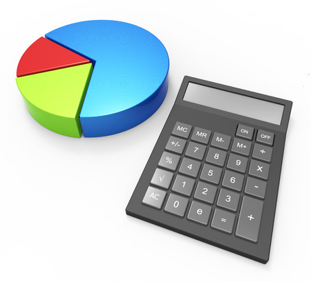 calculated: Pie Chart Calculation Representing Business Graph And Forecast