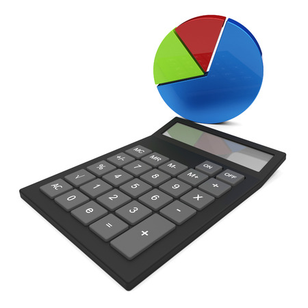 calculated: Pie Chart Calculation Representing Progress Report And Trend