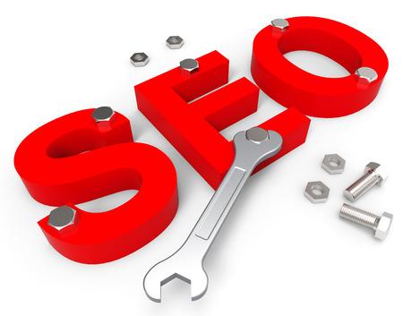 optimizing: Search Engine Optimization Indicating Gathering Data And Optimizing
