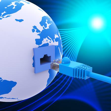 rete di computer: Connessione in tutto il mondo Significato Computer Network e mondana Archivio Fotografico