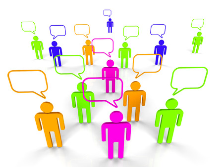 people communicating: People Communicating Indicating Network Server And Connectivity Stock Photo