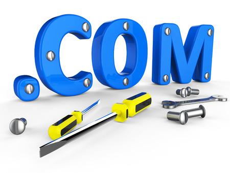 dot com: Dot Com Representing World Wide Web And Website