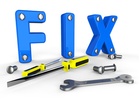 fixed: Fix Word Representing Tools Fixed And Repairs Stock Photo