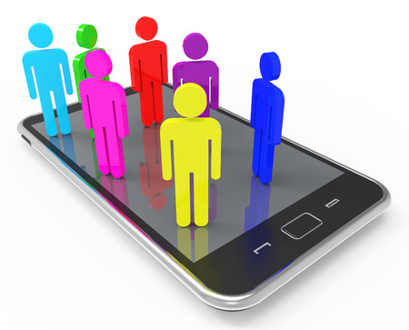 comunicação: Telefone Comunicação Comunicação Global Representando e juntos Banco de Imagens