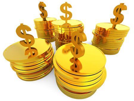 representing: Dollars Cash Representing United States And Revenue Stock Photo