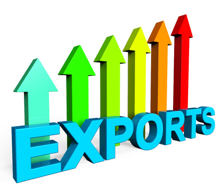exported: Exports Increasing Meaning Business Graph And Financial