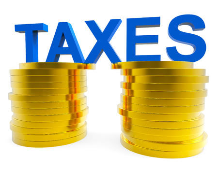 levy: High Taxes Representing Duties Levy And Taxation