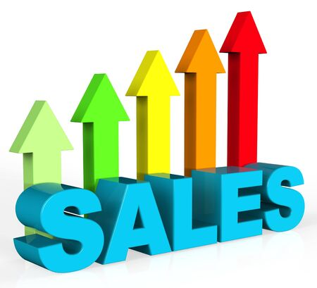 increase sales: Increase Sales Indicating Trade Commerce And Promotion Stock Photo