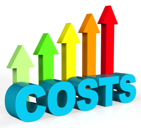 Increase Costs Meaning Growing Money And Balance 스톡 콘텐츠