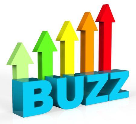 relations publiques: Augmenter Buzz Indiquant relations publiques et le gain Banque d'images