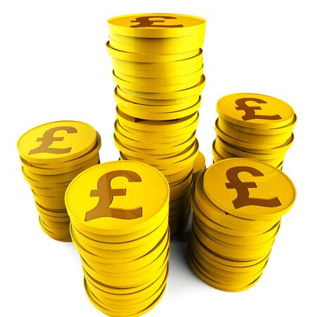 pounds: Pound Savings Representing British Pounds And Saved