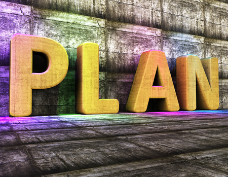 Plan Word Resultaat Project Management En Idee Stockfoto