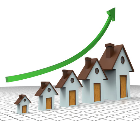 house prices: House Prices Increase Showing Return On Investment And Home Expenses
