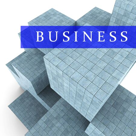 building activity: Business Blocks Design Meaning Building Activity And Construction