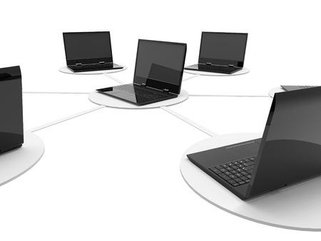 rete di computer: Network Significato Comunicazione globale e Server Archivio Fotografico