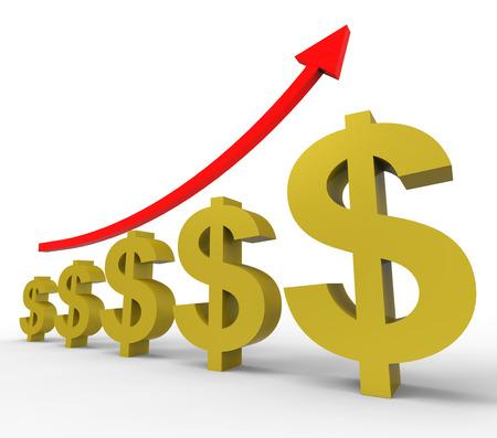 増加するアメリカのドルと私たちを意味ポンド 写真素材