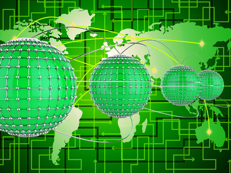 interconnect: Interconnected Network Meaning Worldwide Planet And Connecting