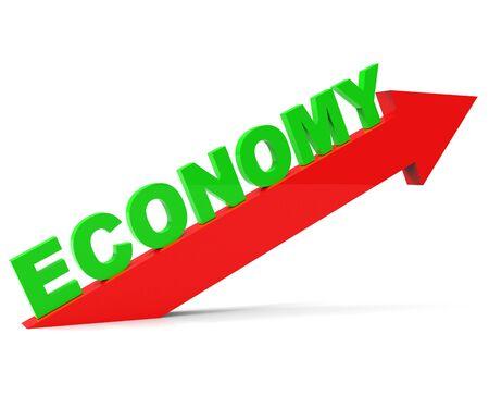 enhance: Improve Economy Showing Improvement Plan And Upgrading Stock Photo
