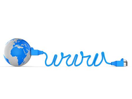 worldwide web: Worldwide Web Indicating Computer Network And Earth