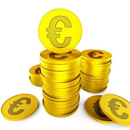 monetary: Euro Savings Meaning Finance Save And Monetary
