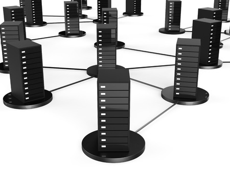 repository: Network Computer Storage Representing Global Communications And Technology Stock Photo