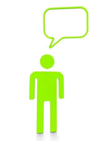 hipotesis: Persona que habla Mostrando punto de vista y Ver Conversación Foto de archivo