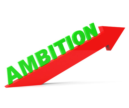 gain: Increase Ambition Meaning Improve Gain And Progress Stock Photo