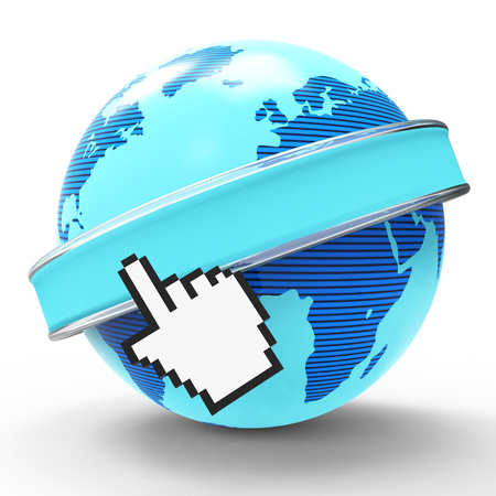 Global Internet Representing World Wide Web And Website