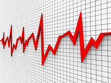 pulse trace: Heartbeat Chart Meaning Pulse Trace And Cardiac Stock Photo