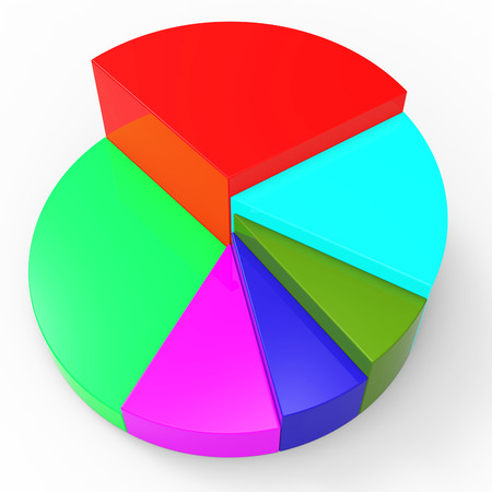 Pie Chart Meaning Business Graph And Investment Stock Photo Picture