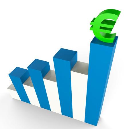 gain: Euro Gain Representing Business Graph And Infograph