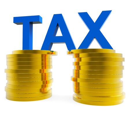 excise: High Tax Representing Excise Finances And Cost Stock Photo