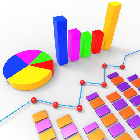 trend: Graph Report Indicating Trend Analysis And Biz Stock Photo