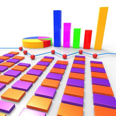 statistical: Graph Report Indicating Profit Data And Statistical