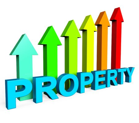 valued: Property Value Increasing Indicating Real Estate Agent And On The Market