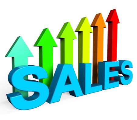 infochart: Sales Increasing Representing Progress Report And Infochart