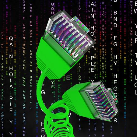 rete di computer: Connessione Internet Mostrando World Wide Web e la rete di computer
