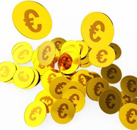 euro coins: Euro Coins Representing Prosperity Euros And Wealthy