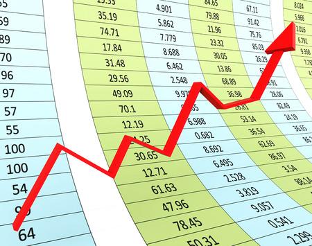 infochart: Progress Graph Representing Infochart Financial And Trend Stock Photo
