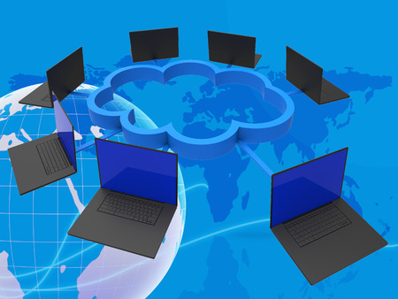 world connectivity: World Wide Meaning Network Server And Connectivity Stock Photo