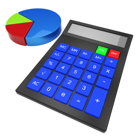 calculated: Calculate Statistics Showing Data Computes And Figures Stock Photo