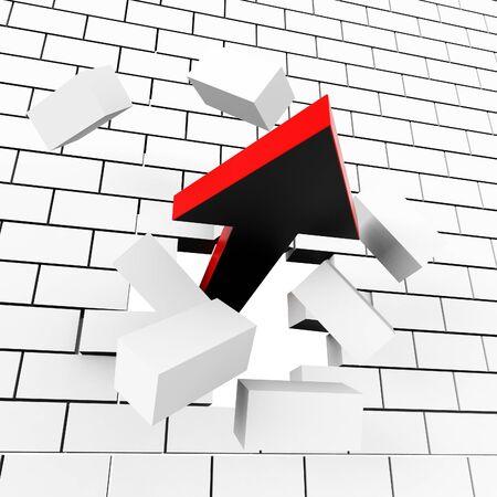 breakthrough: Progress Breakthrough Showing Development Progressing And Betterment Stock Photo