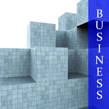 building activity: Business Blocks Design Showing Building Activity And Creating Stock Photo